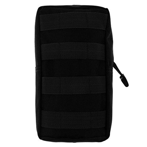 Qianghong Tactique Modulaire Pochette Sac Utilitaire Accessoire Militaire - Taille unique, Noir 1