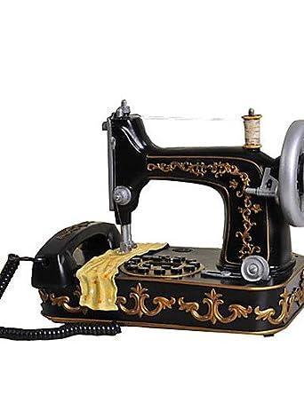 Novelty Moda creativa decoración del hogar con cable Teléfono antiguo máquina de coser