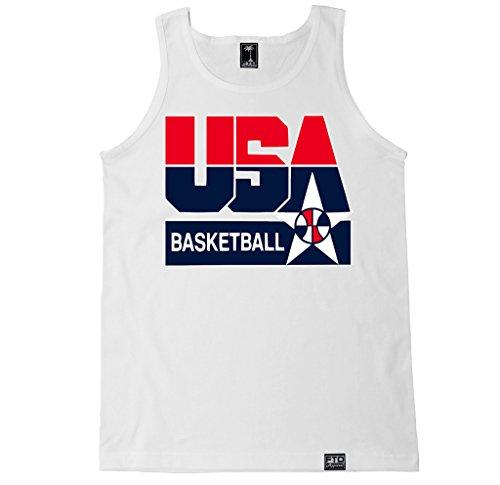 Basketball Mens Tank Top (FTD Apparel Men's USA Basketball Tank Top - Medium White)