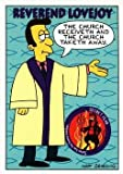 Reverend Lovejoy trading card (The Simpsons TV Show Cartoon) 1994 Skybox #S13