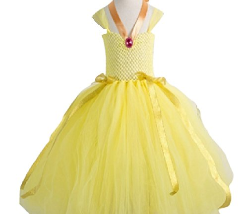 Princess Belle Costume Tutu Dress/Accessories from Chunks of Charm (7, Necklace Style)