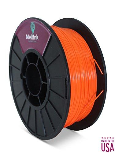MeltInk3D PHA-1K175ORG05 Orange PLA/PHA 3D Printer Filament Ø 1.75mm, 1Kg (2.2 Lb), MADE in USA, Dimensional Accuracy: ± 0.05mm