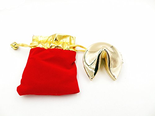 Metal Fortune Cookie Gold and Silver Color Free Size Fro Gifts and Souvenirs