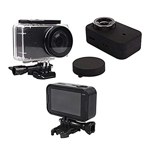 Vaorwne Waterproof Housing Case Box + Frame Shell Cover + Skin Case Cover + Lens Cap Protector for Mijia 4K Action Sport Camera Accessories Kit