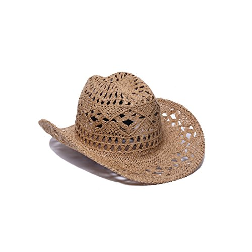 ale by alessandra Women's Caballera Crochet Toyo Cowboy With Memory Wire Brim
