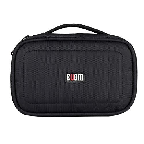 BUBM Portable Universal Travel Gadget Electronic Accessories Storage Bag Cable Organizer Carrying Case (Black)