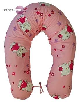 Cojín para embarazo y lactancia cojín para dormir durante el almohada para dormir de lado de tinta. Funda 170 cm bebé XXL breit Gato Rosa: Amazon.es: Bebé