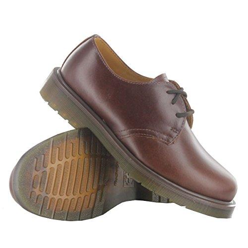 Marrón Martens Cordones Dr Zapatos Smooth Black tan Hombre De Para marron 1461pw gqdwzqAna