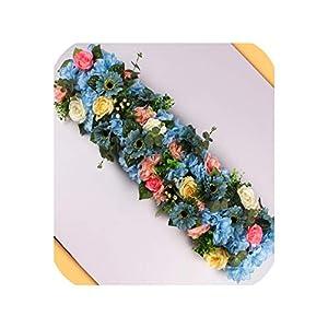 Wedding Flower Decor for Iron Arch Artificial Flower Arrangement Supplies Road Lead Cited Flower Row Window T Station,10 6