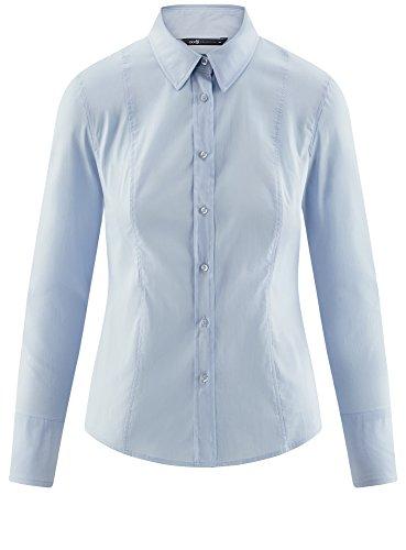 Basique en Coton 7000n Bleu oodji Femme Chemisier Collection qz1W4WtSf