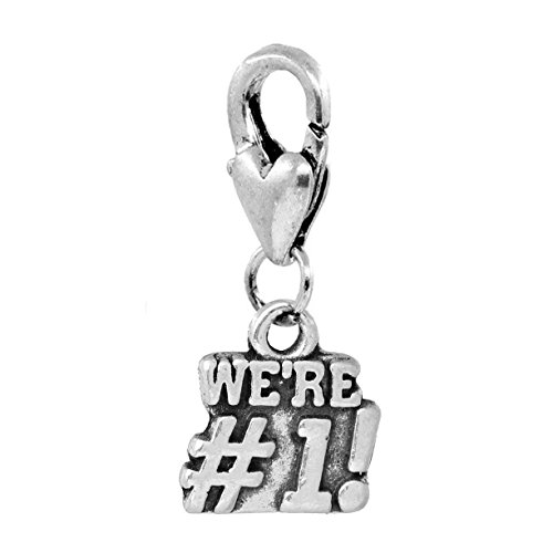 We're #1 Sports Team Cheer Cheerleader Clip-On Charm for Bracelets