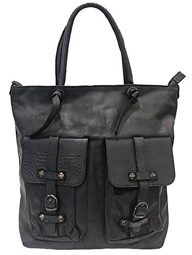 0ddaa59feb630 Damen Flecht Tasche Dafne Paul.hide Leder Tasche Vintage Leder Gewaschen  Used-Look Tasche
