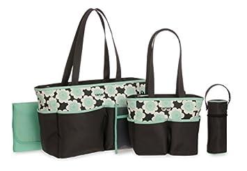 Amazon.com : Impresión floral bolsa de pañales Set, Gris ...