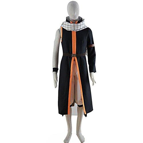 [Poetic Walk Natsu Dragneel Cosplay Costume Uniform Outfit (XX-Large, Black)] (Natsu Dragneel Costume)