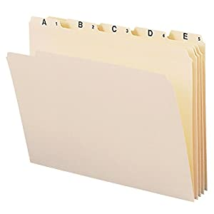 Smead 11777 Indexed File Folders, 1/5 Cut, Indexed A-Z, Top Tab, Letter, Manila (Set of 25)