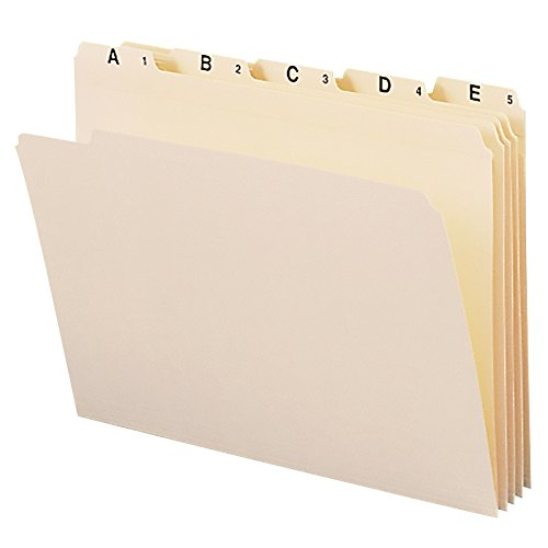 Smead 11777 Indexed File Folders, 1/5 Cut, Indexed A-Z, Top Tab, Letter, Manila (Set of 25) ()