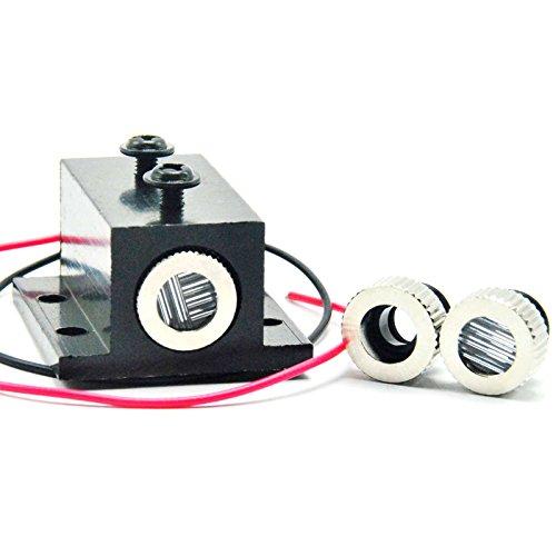 650-5 Focusable Red Laser Dot Line Cross LED Diode Module w/Heatsink 12x35mm by JINGLUYAO