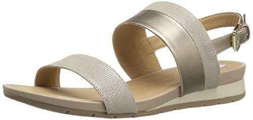Geox Women's W Formosa 14 Dress Sandal, Champagne, 37.5 EU/7.5 M US (Flats Leather Geox)