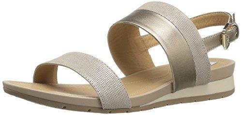 sa 14 Dress Sandal, Champagne, 36.5 EU/6.5 M US (Geox Leather Flats)