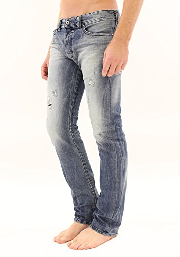 Diesel Men's Safado Regular Slim Straight-Leg Jean 0823V, Denim, 32x32 (Diesel Mid Rise Jeans)