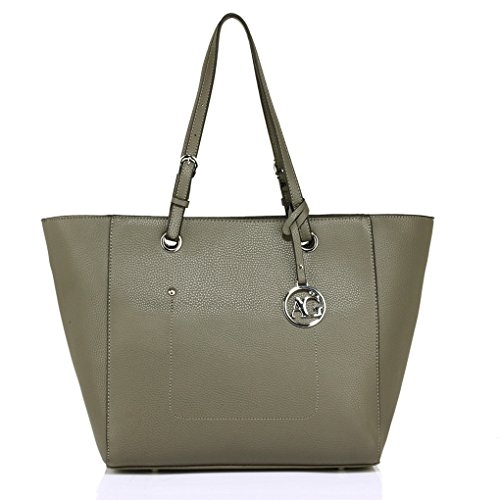 Grey Women Ag Tote Clearance Shopper 350 LeahWard Bag Style Ladies Shoulder Ladies Charm Bags Fashion Sale Celeb For Designer Handbag A4 Yxw6qH
