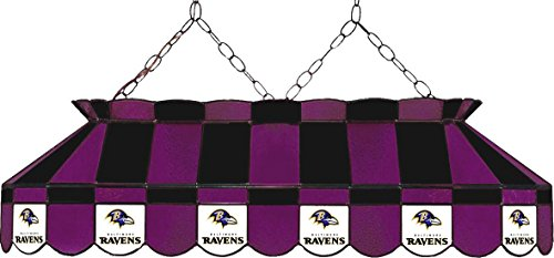 (Imperial NFL Baltimore Ravens Stained Glass Pool/Billiard Table Light - New!!!)