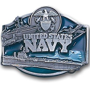Navy Belt Buckle (Navy Midshipmen Military Pewter Belt Buckle - U.S.)