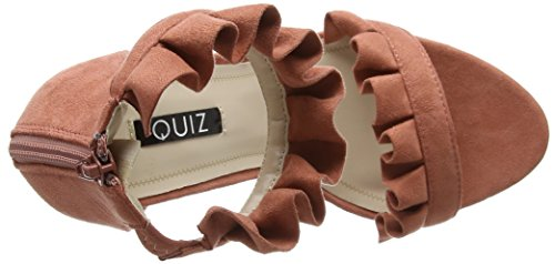 Sandales Bride Frill Femme Dusty Rose Quiz 001 Barely Cheville Theres Pink A1tBawq