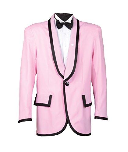 Gangnam Style Or 50s Crooner Doo Wop Jacket (Medium, Powder Pink)