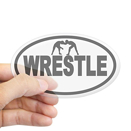 CafePress Wrestling Wrestlers Oval Sticker Oval Bumper Sticker, Euro Oval Car Decal