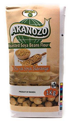 Akanozo''Roasted Soy Beans Flour'' (Ifu ya Soya Ikaranze) 2.2 lbs or 2 kg. by Akanozo