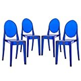 Cheap Modway Casper Modern Acrylic Dining Side Chairs in Blue – Set of 4