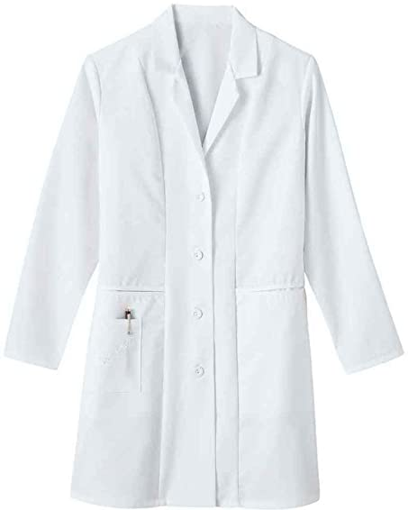 Wonderwink WonderWork Women's Basic Button Front Lab Coat