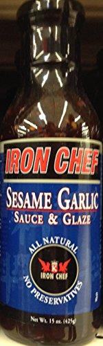 (Iron Chef SESAME GARLIC SAUCE & GLAZE 15oz. (Pack of 2))