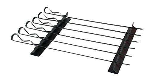 (Charcoal Companion CC3117 Non-Stick Kabob Rack with Six Skewers-CC3117)