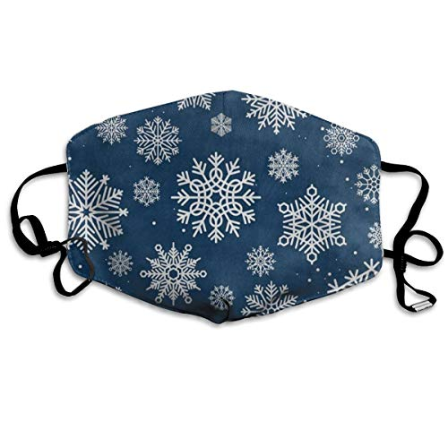 Face Mask Winter Snow Snowflake Christmas Cool Cycling Half Face Earloop Nose Mask for Girls
