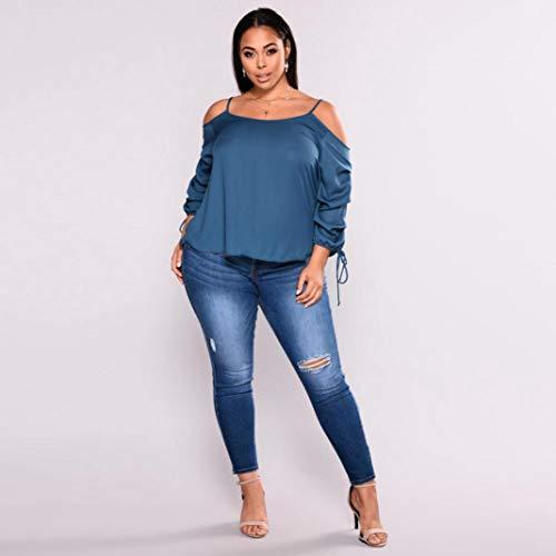 Jean Bleu Femme Uni Jeans Holywin zxqnROPO