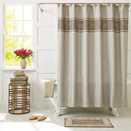 Image Unavailable Not Available For Color Better Homes And Gardens Greek Key Shower Curtain