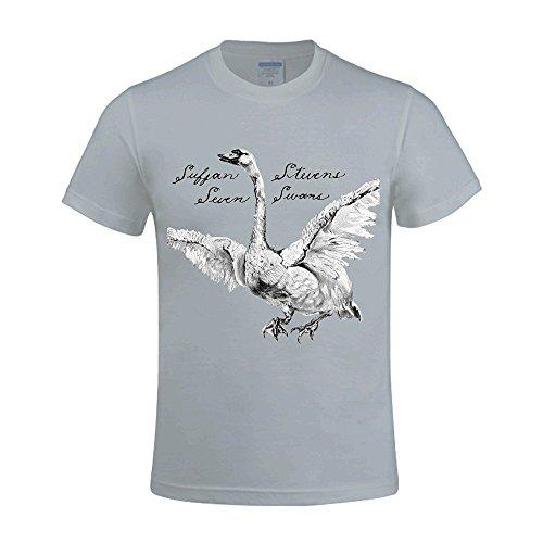 sufjan-stevens-seven-swans-t-shirts-for-mens-funny-round-neck-grey