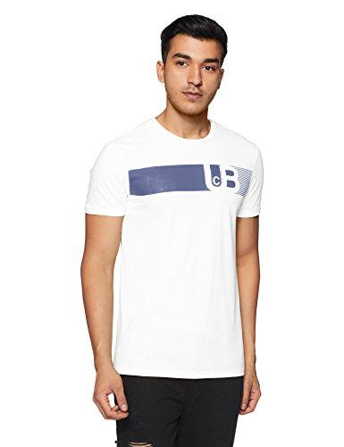 2e49ed42 United Colors of Benetton Men's Printed Regular white Fit T-Shirt ...