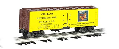 O Gauge Rolling Stock (Williams by Bachmann 40-Feet Scale Refrigerator Car Mariposa Apples - O Scale)