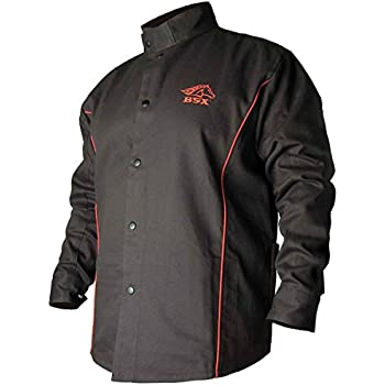 5X-Large Steel Grip GS16750-5XL Green Durable Flame Resistant Cotton Sateen Jacket