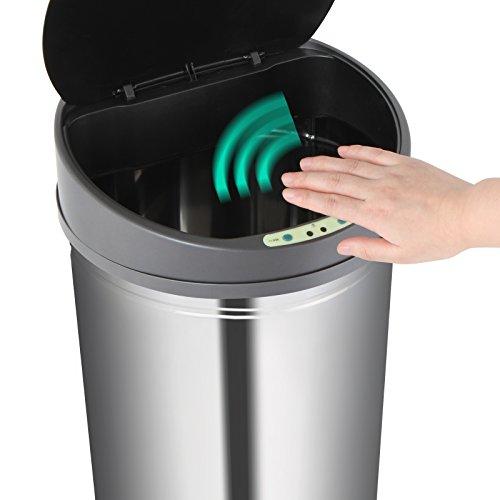 Jago - Cubo de basura automático de cocina con sensor de movimiento de de acero inoxidable - 30 L - capacidad a elegir: Amazon.es: Hogar