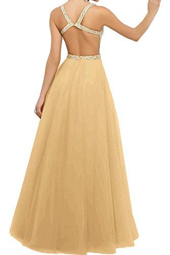 Promkleid Damen Linie Abendkleider Nack Ivydressing Steine Hochwertig A Ballkleid V Weiß dxYqn8