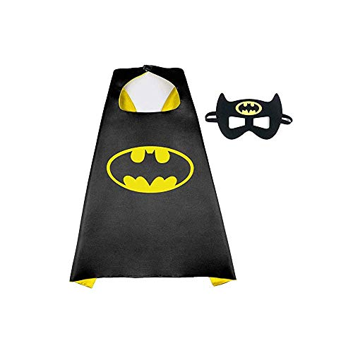 Batman Cape And Mask - Halloween Mask and Cape, Dress Up