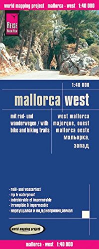 Reise Know-How Rad- und Wanderkarte Mallorca West (1:40.000): world mapping project