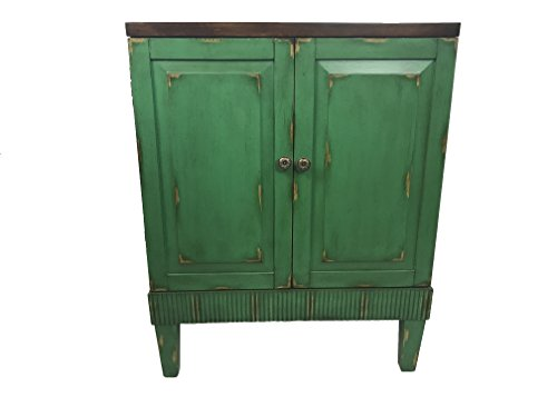 Callie Hand Painted Distressed Wooden Accent Cabinet (Green)