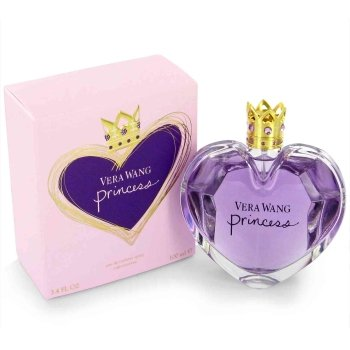 Flower Shaped Perfume Bottle - Vera Wang Princess Eau de Toilette Spray for Women, 3.4 Fluid Ounce
