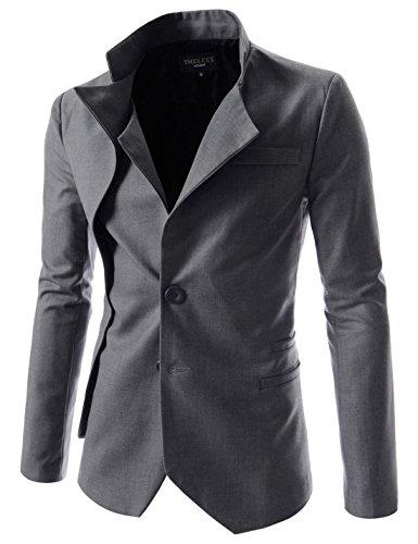 TheLees (NJK) Mens Unbalance 2 button china collar jacket
