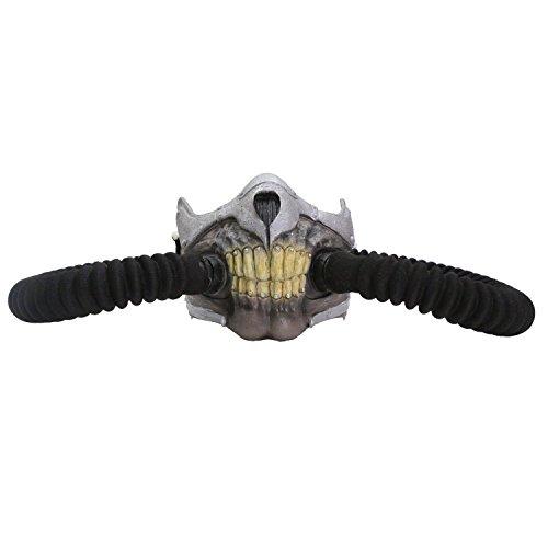 (XCOSER Adult Immortal Joe Skeletal Mask with Bellows for Halloween)